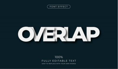 Obraz Overlapping text effect. Editable font style