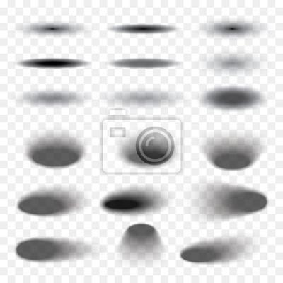 Obraz Owalne cień ustawić przezroczyste z miękkimi krawędziami samodzielnie na jej tle. Elementem projektu produktu