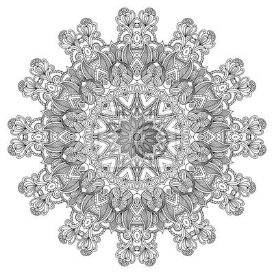 Ozdobne okrągłe. Dekoracyjne tło koronki
