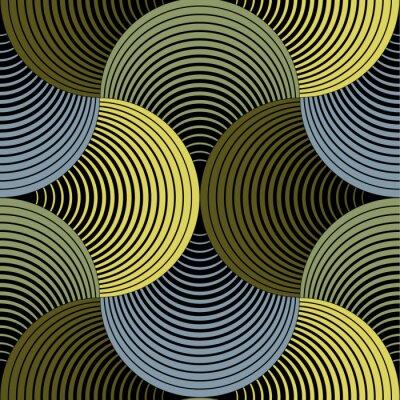 Obraz Ozdobny płatki geometryczna siatka, Abstrakcyjny wektor szwu