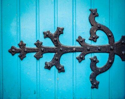 Obraz Ozdobny zawias drzwi Kościoła Niebieski