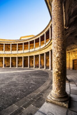 Obraz Pałac Karola V w La Alhambra, Granada, Hiszpania.
