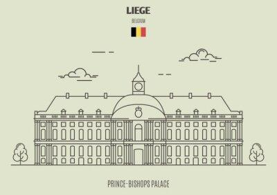 Pałac Książąt Biskupów w Liege, Belgia. Ikona punktu orientacyjnego