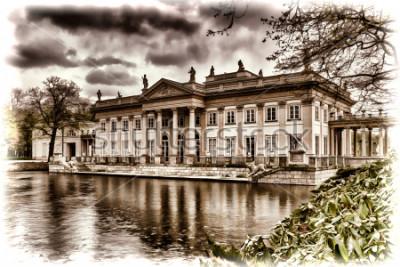 Obraz Pałac na wodzie w Łazienkach w Warszawie