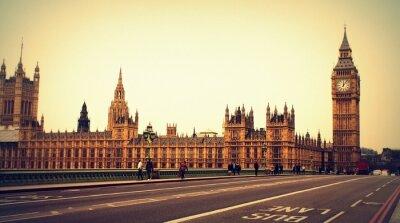 Obraz Pałac Westminsterski und Big Ben w Londynie - UNESCO Weltkulturerbe