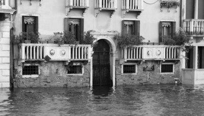 Obraz pałace i domy w Wenecji podczas przypływu