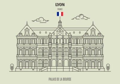 Palais de la Bourse in Lyon, France. Landmark icon