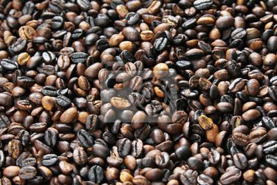 palonych ziaren kawy cyweta (kopi luwak), mogą być używane jako tło