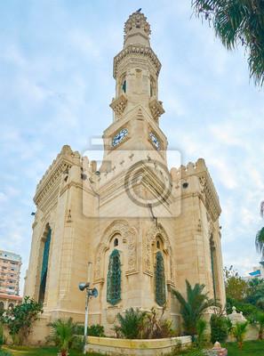 Panorama Al Qaed Ibrahim Meczet w Aleksandrii w Egipcie