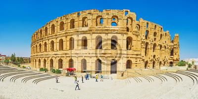 Panorama amfiteatru El Jem w El Djem