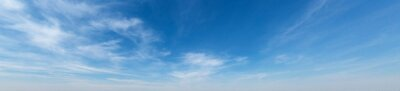 Obraz Panorama Blue sky and white clouds. Bfluffy cloud in the blue sky background