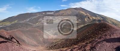 panorama Etna kratery