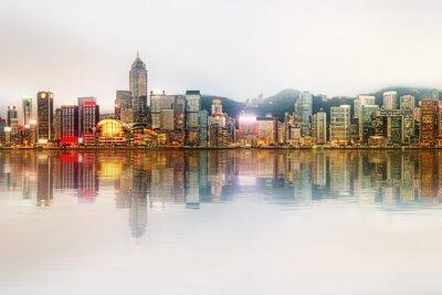 Obraz Panorama Hongkongu i dzielnicy finansowej