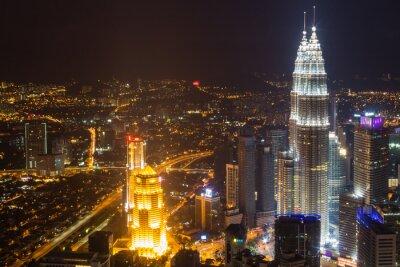 Obraz panorama miasta nocą
