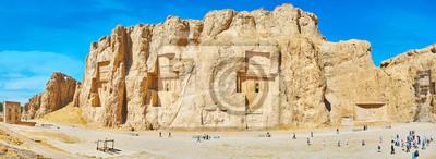 Panorama Naqsh-e Rustam archeologiczny miejsce