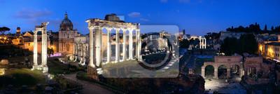 Panorama nocna Forum Rzymu