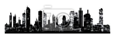 Obraz Panorama obraz panoramę miasta