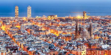 Obraz Panorama of Barcelona at dawn