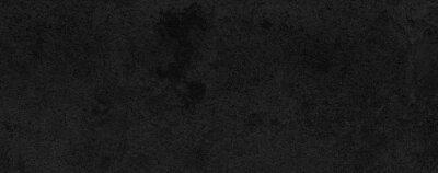 Obraz Panorama of Dark grey black slate background or texture. Black granite slabs background