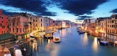 Obraz Panorama Wenecji od mostu Rialto