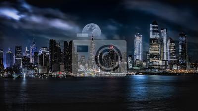 Obraz Panoramę Manhattanu o zmierzchu