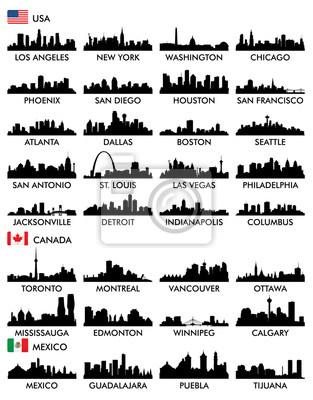 Obraz Panoramę miasta Ameryka Północna