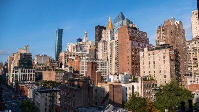 Obraz panoramic buildings of new york in the manhattan area