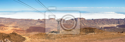 Panoramic view from Teide Cable car station at Mount Teide, the highest peak in Spain, Teide National Park, Tenerife, Spain.