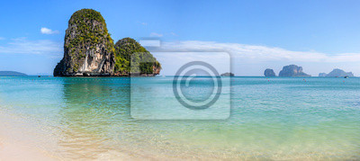 Panoramic view of beautiful beach and islands, Thailand.