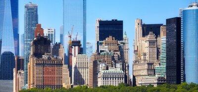 Panoramic view of Manhattan diverse architecture, New York City, USA.