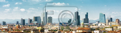 Obraz Panoramic view of Milan in summer from above, Italy