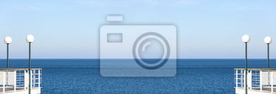 Panoramiczny morza abstrakcyjne tło lub banner