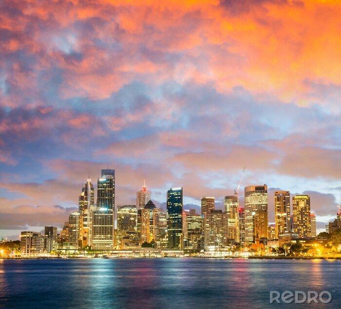 Obraz Panoramiczny noc panoramę Sydney