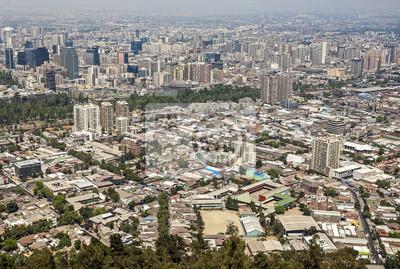 Obraz Panoramiczny widok centrum Santiago de Chile, Chile.