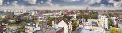 Panoramiczny widok na miasto europejskie, Szczecin (Stettin), Polska