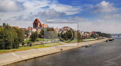 Panoramiczny widok na Starym Mieście w Toruniu.