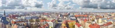 Panoramiczny widok śródmieścia Szczecina (Szczecin), Polska