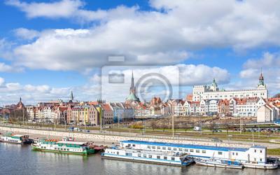 Obraz Panoramiczny widok Szczecinie waterfront.