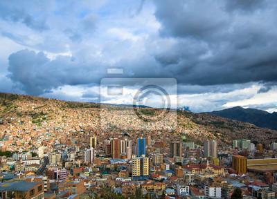 Panoramiczny widok z La Paz, Boliwia