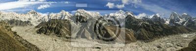 Panoramiczny widok z Mount Everest Zakres, Nepal