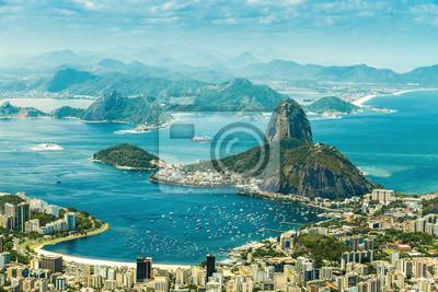 Obraz Panoramiczny widok z Rio de Janeiro i Sugar Loaf, Brazylii.