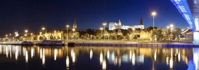 Panoramiczny widok z Szczecin (Stettin) Miasto z Książąt Pomorskich