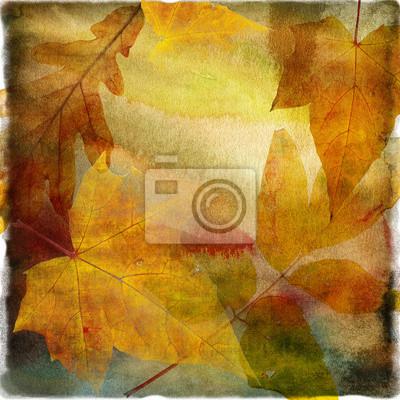 Papier jesień liściaste