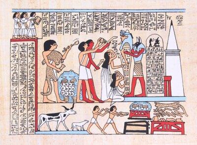 Obraz Papirus z hieroglifami