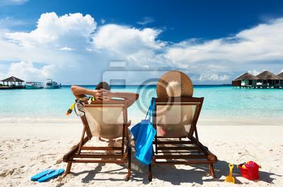 Obraz Para na plaży