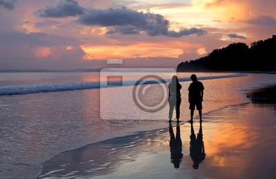 Para na plaży.