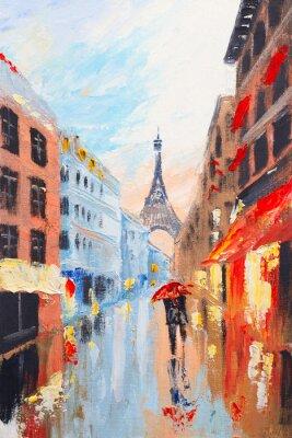 Obraz para spaceru na ulicach Paryża na tle t
