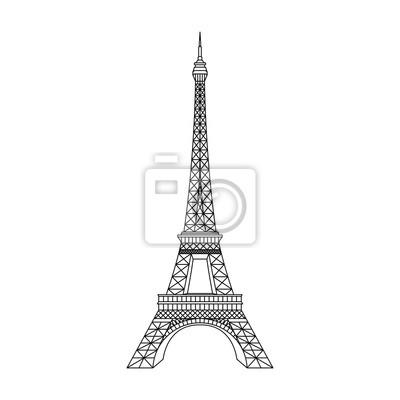 Obraz Paris Eiffel Tower vector illustration