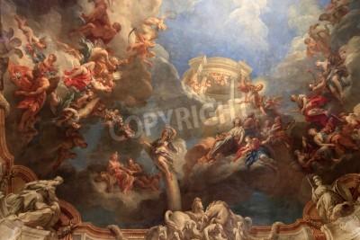 Obraz PARIS, Francja - 22 września: pałac w Wersalu, Paryż, Francja, wnętrza. Versailles Palace to królewski pałac w Wersalu 22 września 2010 w regionie Île-de-France we Francji