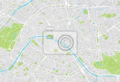 Obraz Paris mapie